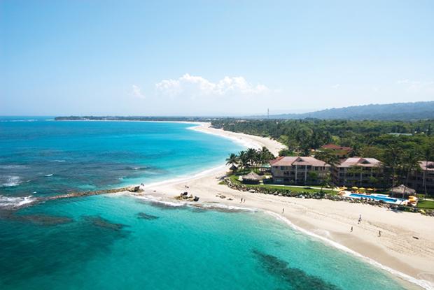 Cabarete beach from the air.